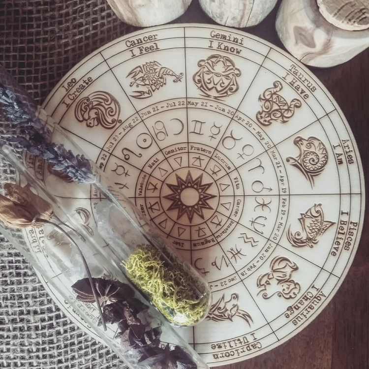 》•《Zodiac Grid》•《 . wood Zodiac - sirens_song_magick | ello