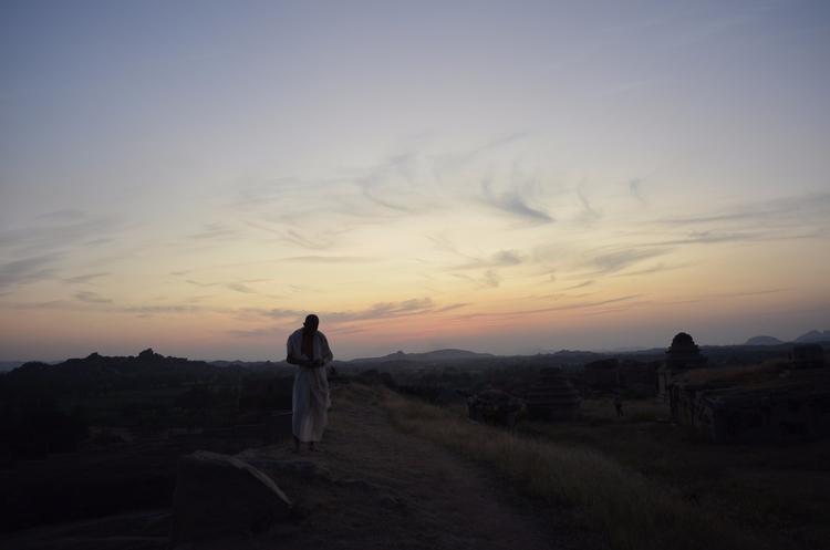 After_Sunset, Hampi_India, Monk - sanjayr | ello