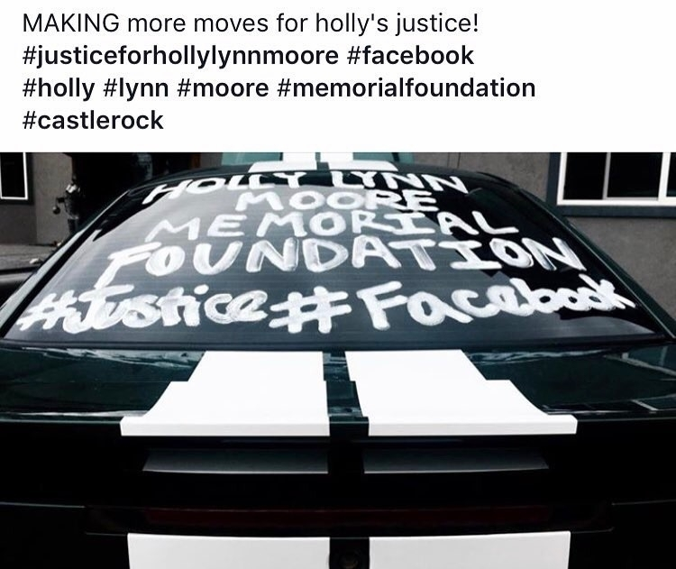 Support  - share, solvemymurder - justiceforhollymoore | ello