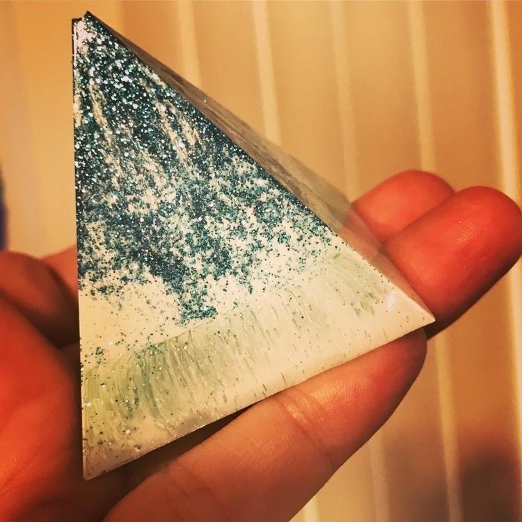 Ocean colors resin pyramid - aquasouldesigns | ello