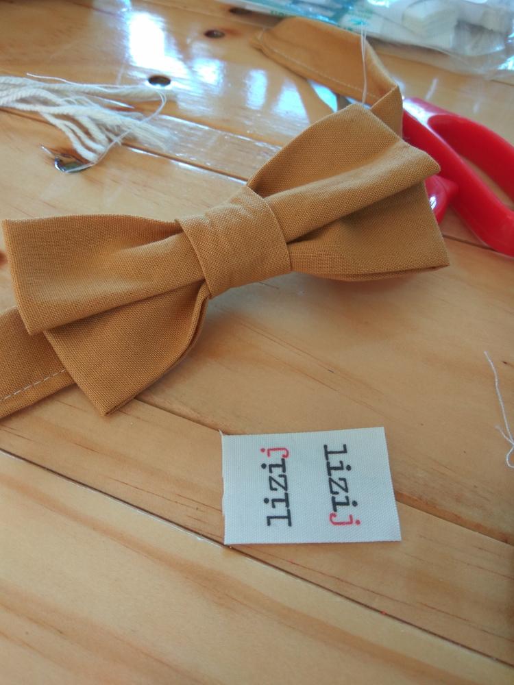 custom - inthemaking, mustard, bowtie - lizi_j | ello