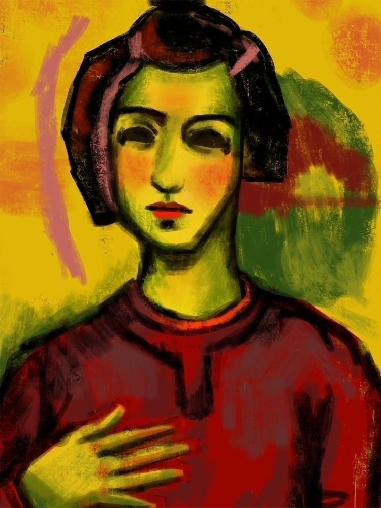 Month 6 - procreate, expressionist - susanholloway | ello