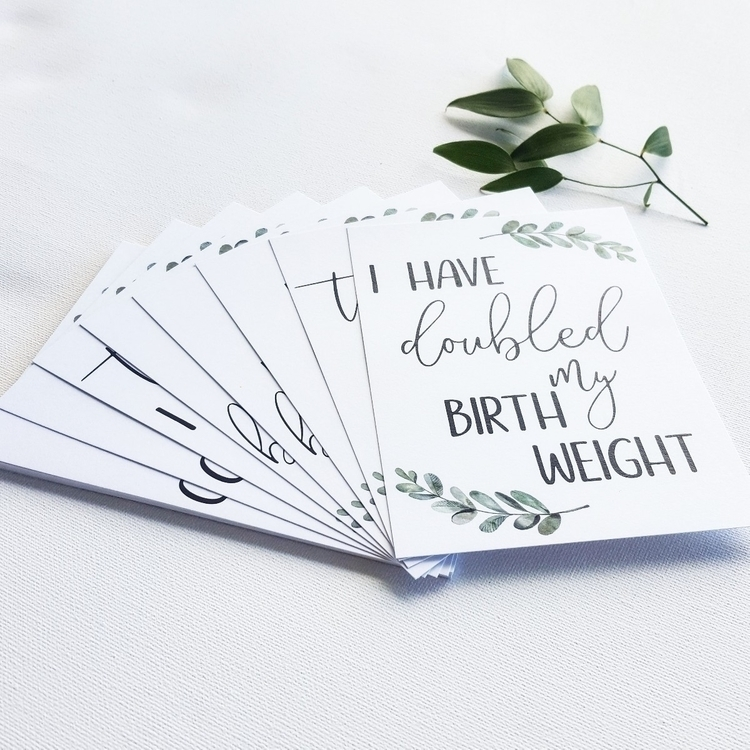 • IVF covered! Milestone Cards  - featherandfawn | ello