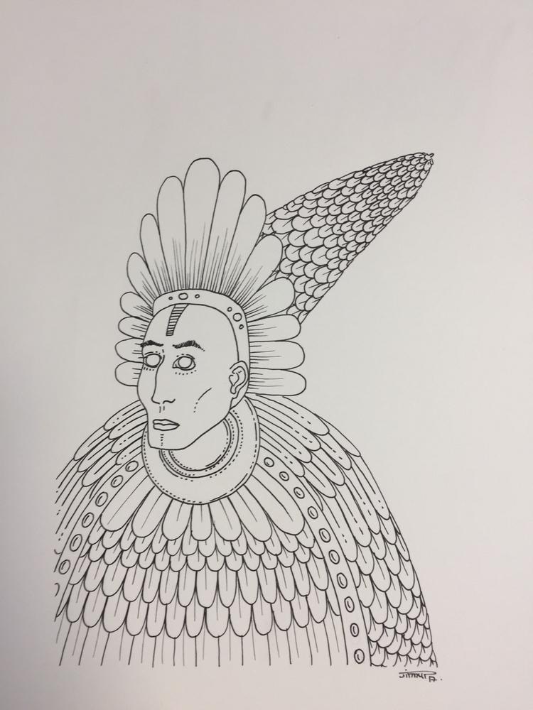 Shaman IX - illustration, art, drawing - jimmy-draws | ello