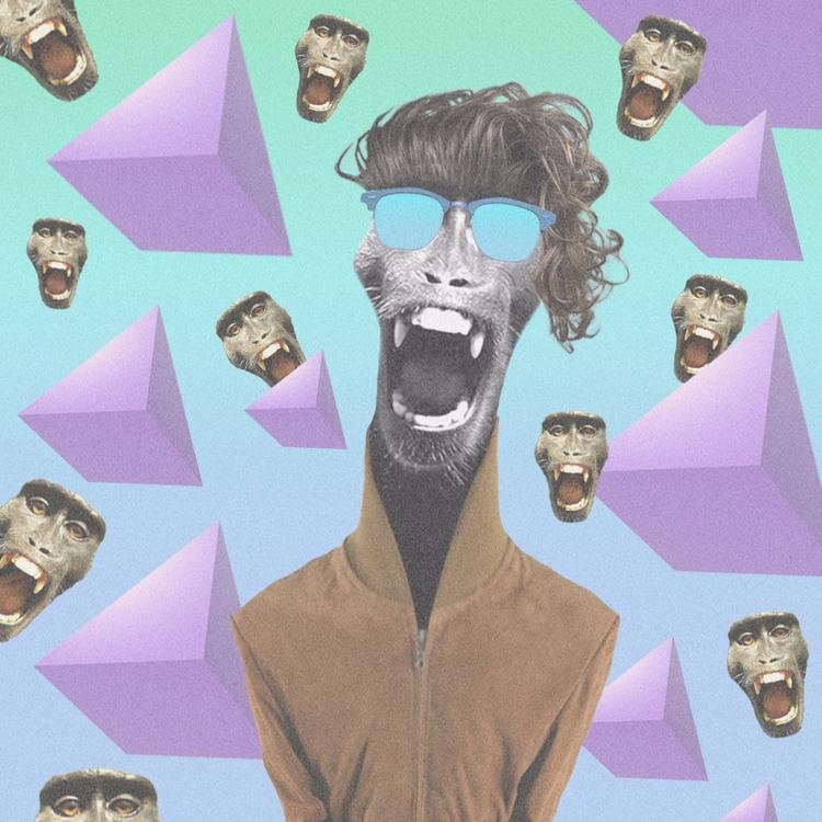 Acid Monkey - triangle, sunglasses - valenvq | ello