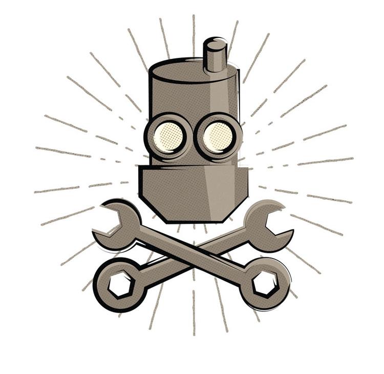 bit robot kick. mascots persona - cogwurx | ello