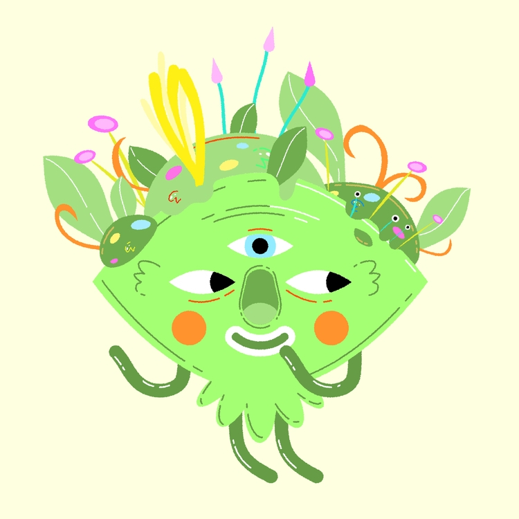 Bloomer - illustration, trippy, bloom - natekogan | ello