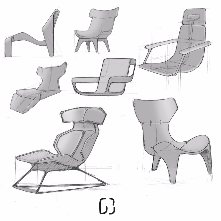 Quick research sketches chair t - gautierberthoumieux | ello