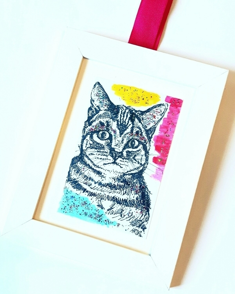 cat, discocat, illustration, drawing - helenrochfort | ello