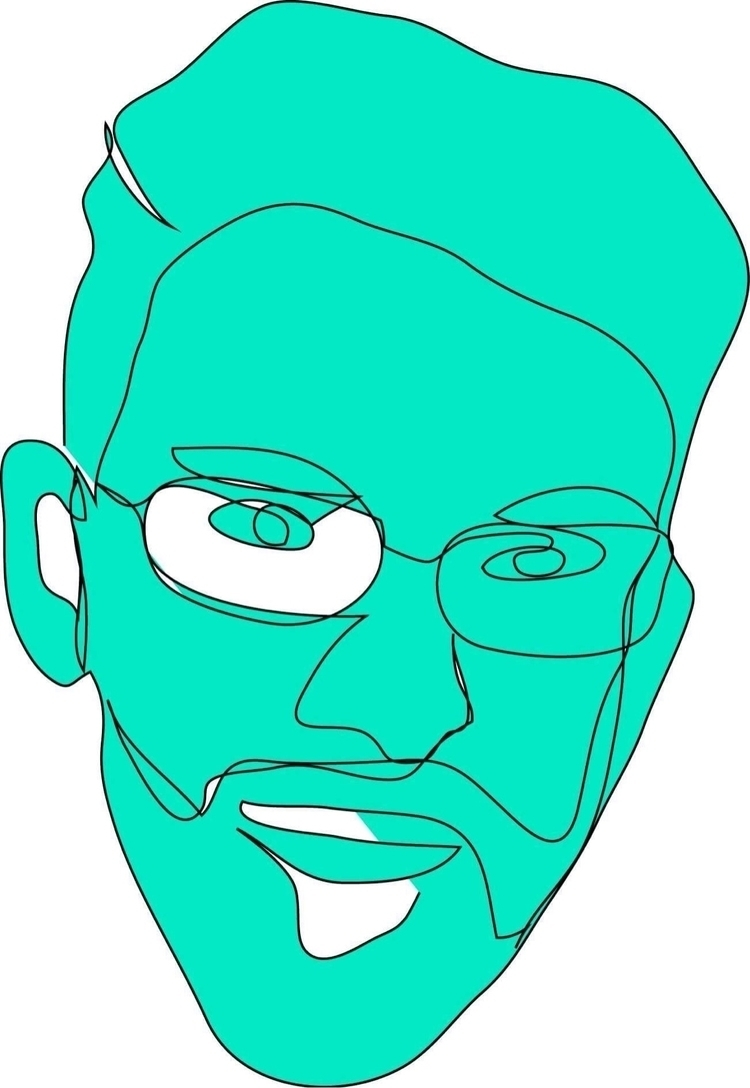 digital, portrait, liner, drawing - faheemabbas   ello