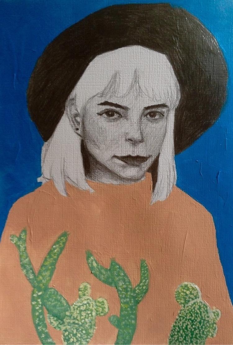 Acrylic ~ Graphite - leii | ello