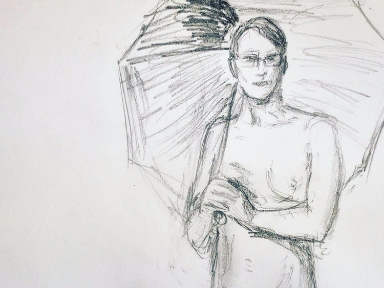 favorite figure drawing session - cameronaubernon | ello
