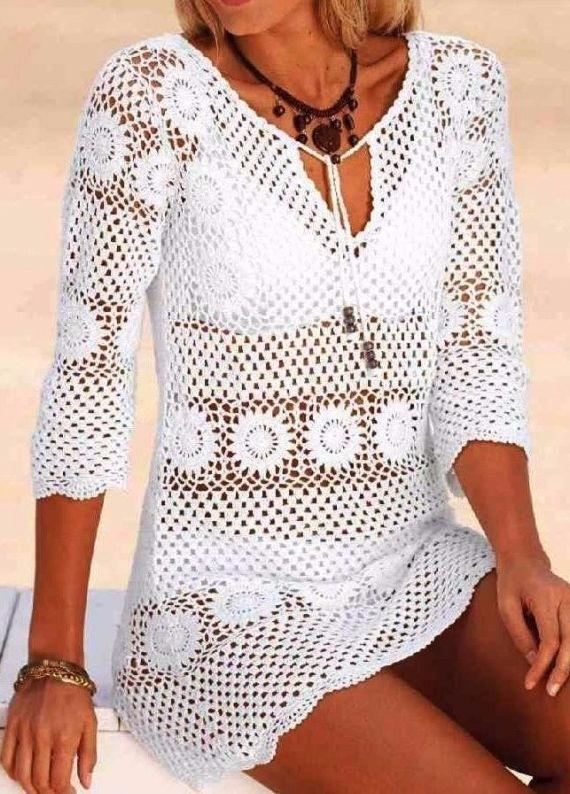 lovely crochet blouse free step - carlabreda | ello