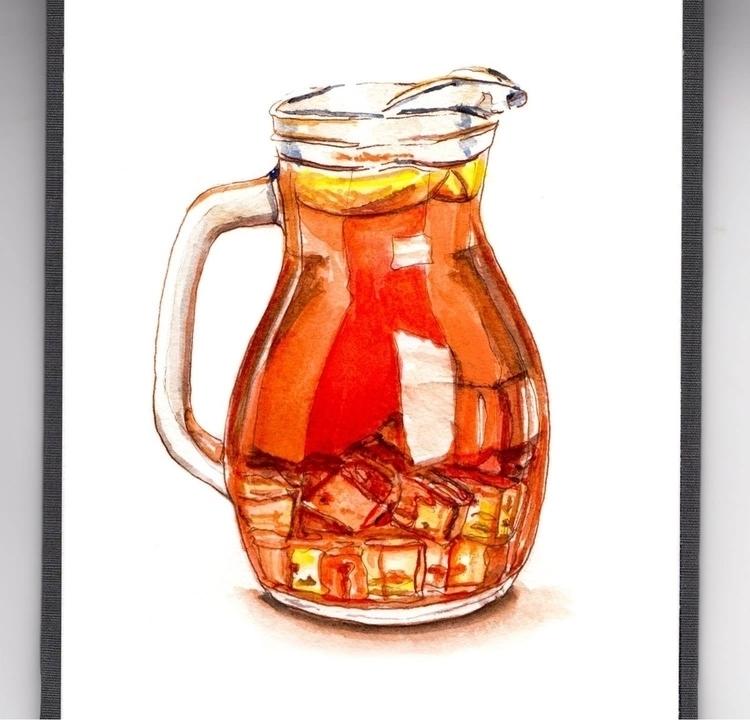 - Iced Tea Shade - WorldWatercolorMonth - doodlewash | ello