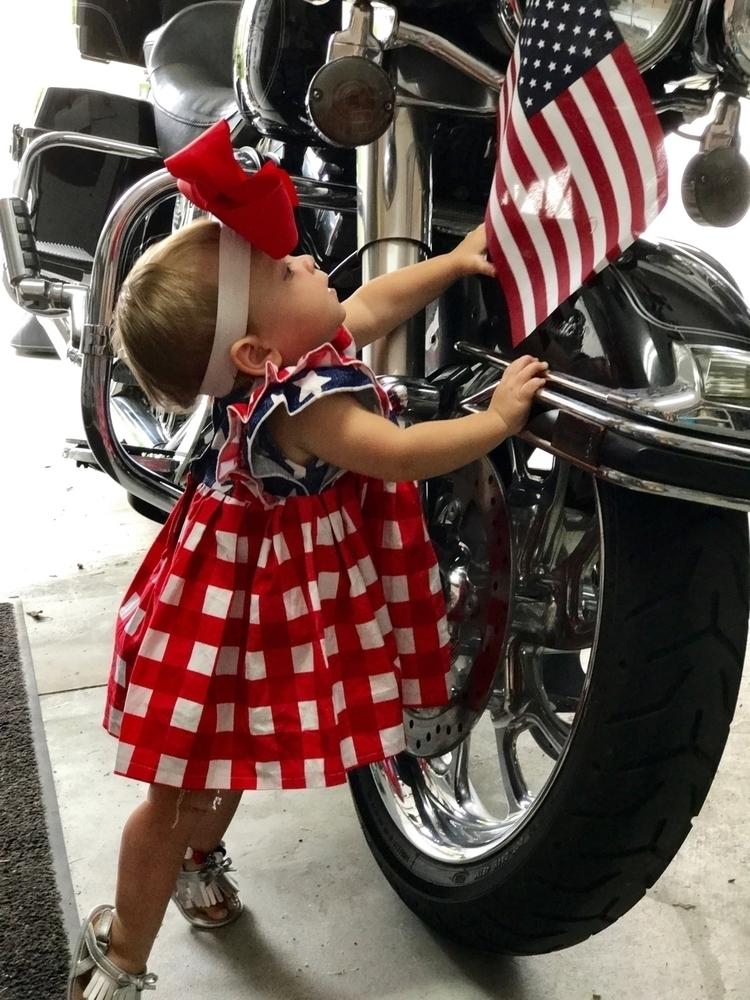 American flag, Harley, cute red - blakelyraeforrester | ello
