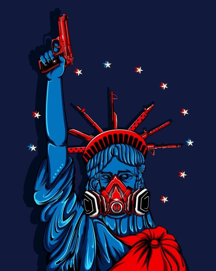 America July 4th - DigitalDecadeCyberia - kzengjiang | ello