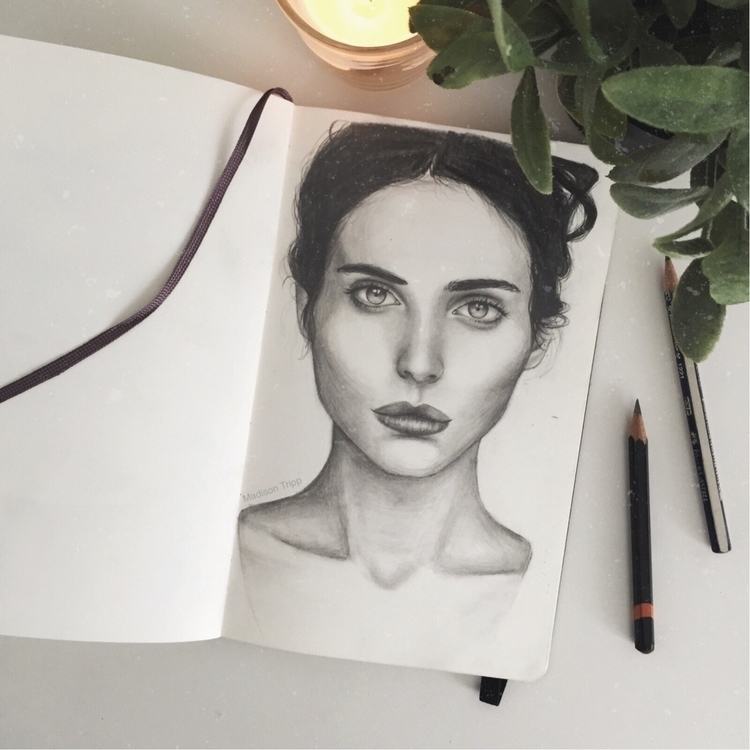 portrait, sketchbook, sketch - madisontripp | ello