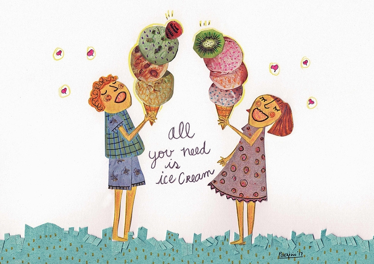 Ice cream good idea - icecream, illustration - patriciaes | ello