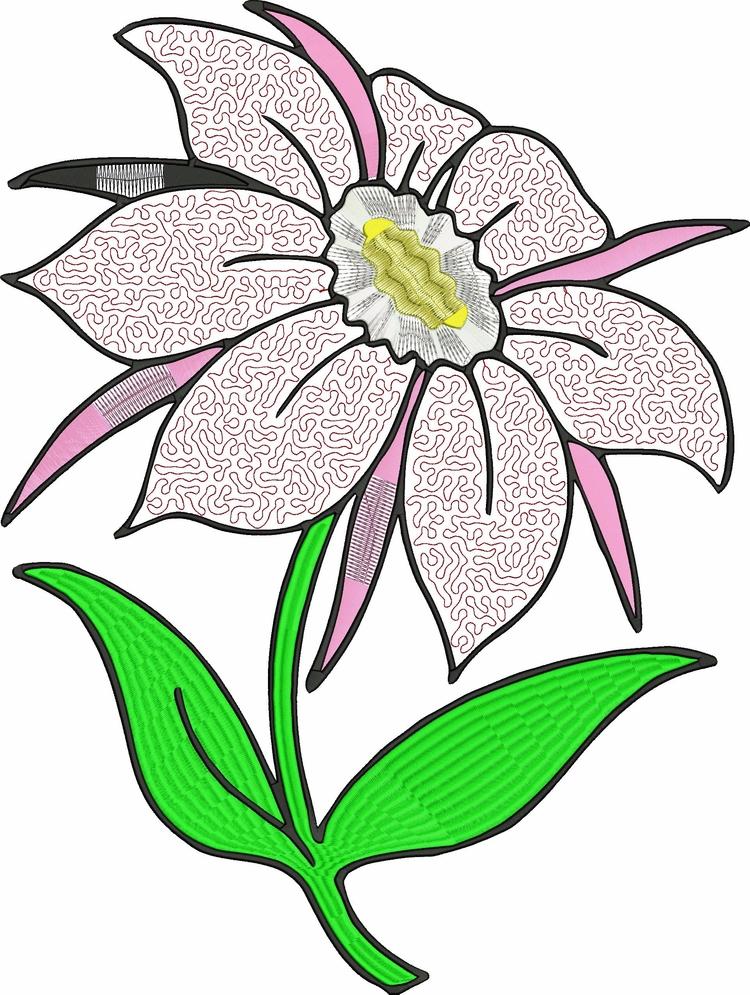 embroidery flower - deanambro101 | ello