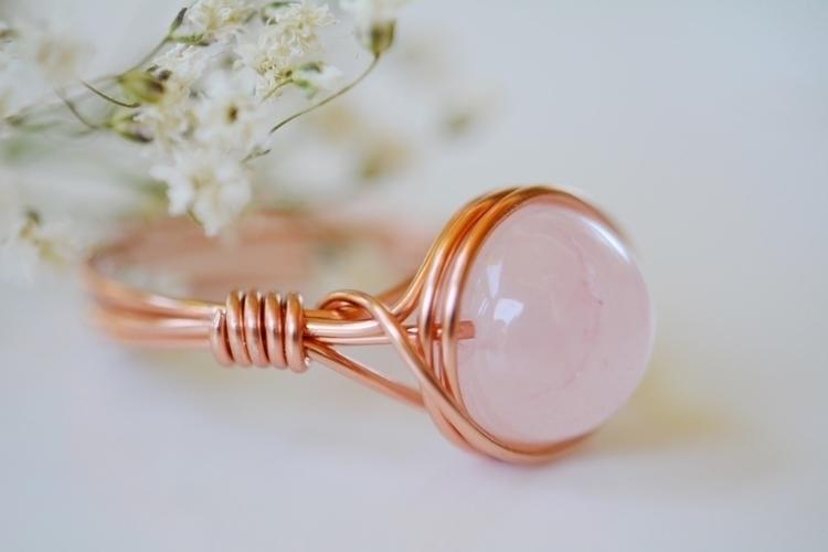 simple nested rose quartz ring  - sacredcrystalco | ello