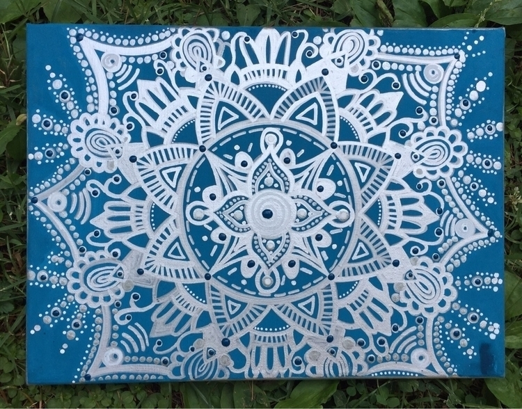 small, imperfect mandala work - wip - artbykaylabraden | ello