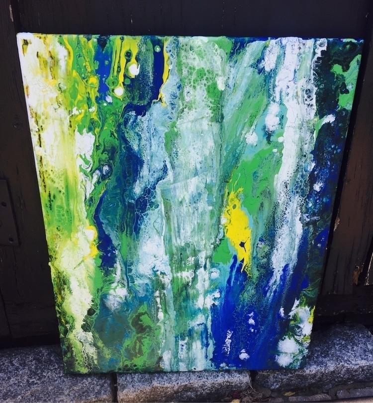 Waterfall - modernart, abstractart - nash-heff | ello