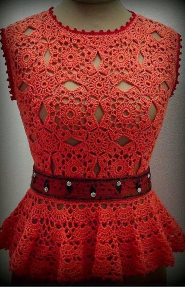 love red crochet blouse ... air - carlabreda   ello