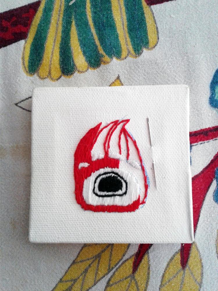 Work progress, Haida design - embroidery - valentinacano | ello