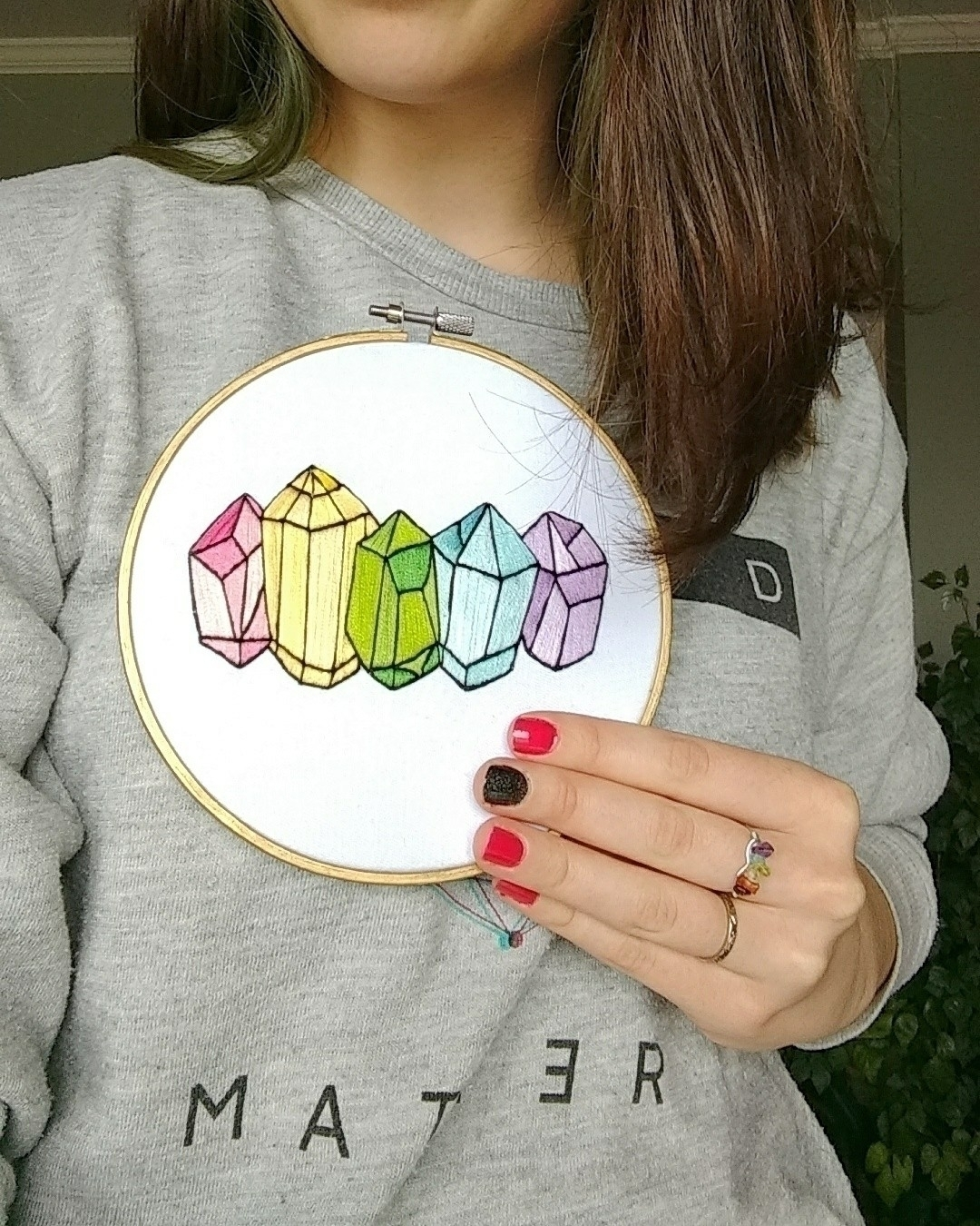embroidered rainbow crystal clu - westcoastcreator | ello