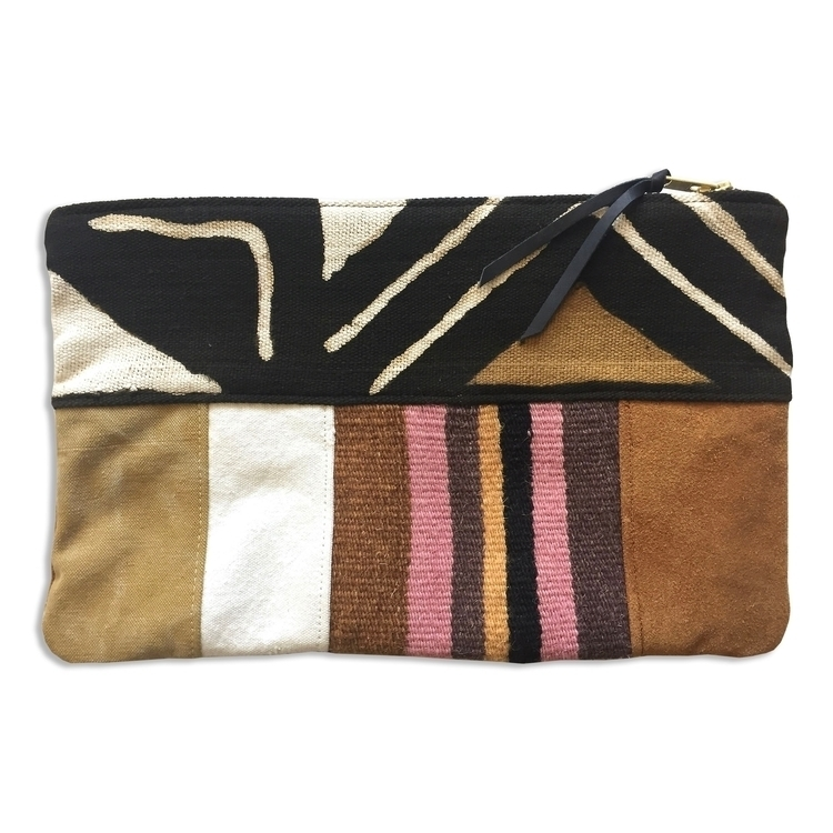 Mixed materials zippered pouch - patrickdenanddelve | ello