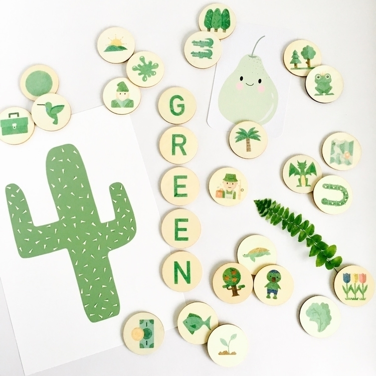 GREEN rainy day thought green f - mylittleset   ello