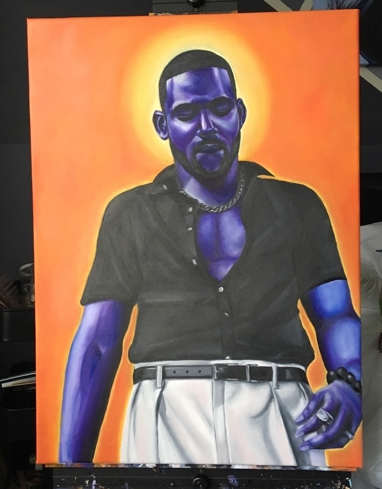 Man 30x22 Oil Canvas - thekathedral | ello