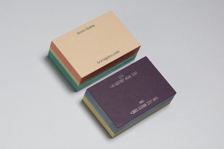 set business cards artist Boris - bunchdesign | ello