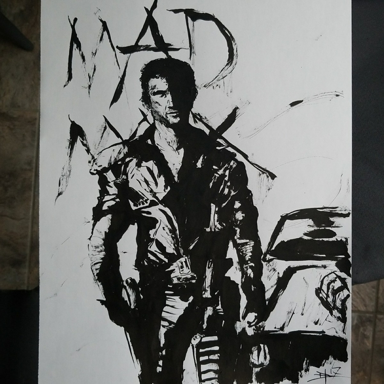 Mad Max 11x14 freehand brushed  - danhawksworth | ello