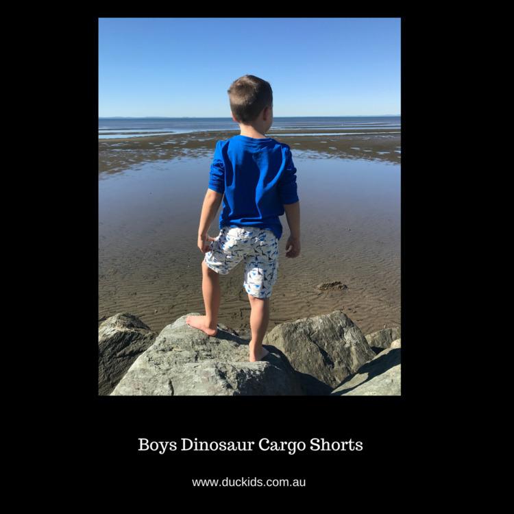 Boys Dinosaur Cargo Pants - gre - duckids | ello