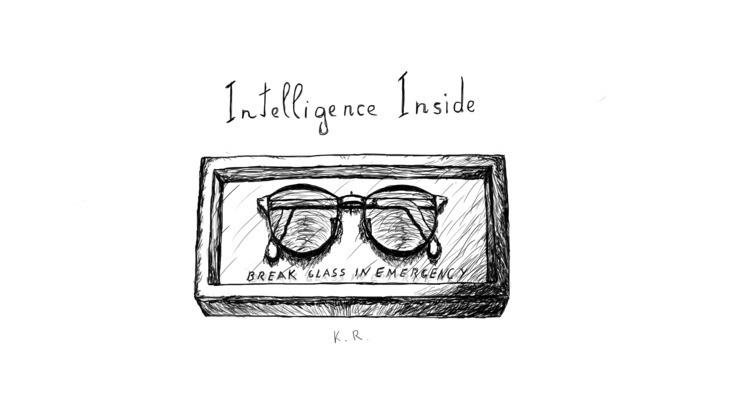 wear glasses - drawing,, rupkusart, - karolisrupkus   ello