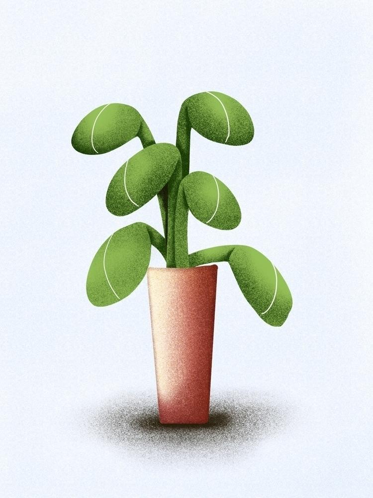 Green friend - plant, love, green - juulstudio | ello