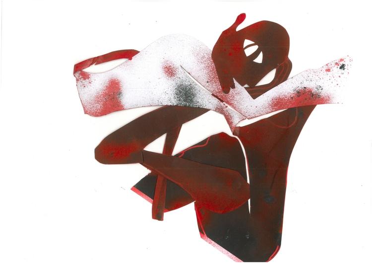 BRASSE, 2017, stencil/acrylic/c - doniajornod | ello