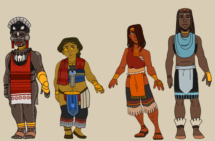 post line character designs mes - emkdraws | ello