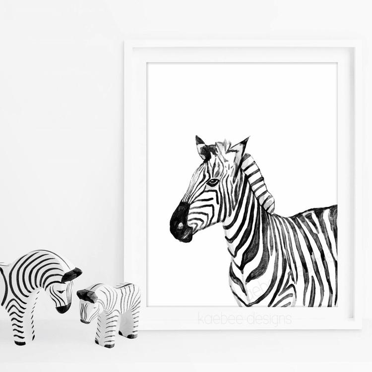 zebra print prints A4 A5 size s - kaebee_designs | ello