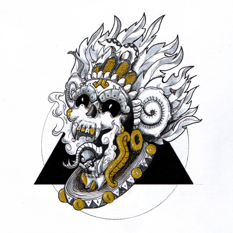 Ah Puch: Mayan God Underworld - mayan - el_aris_tides | ello