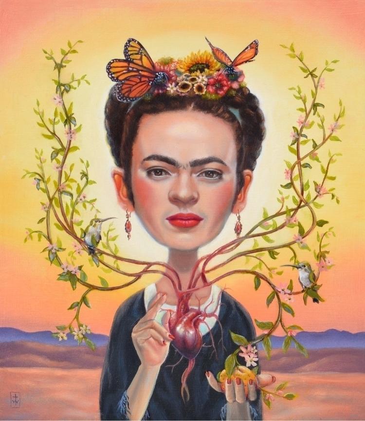 El Corazón de Frida Oil wood 20 - terriwoodward | ello