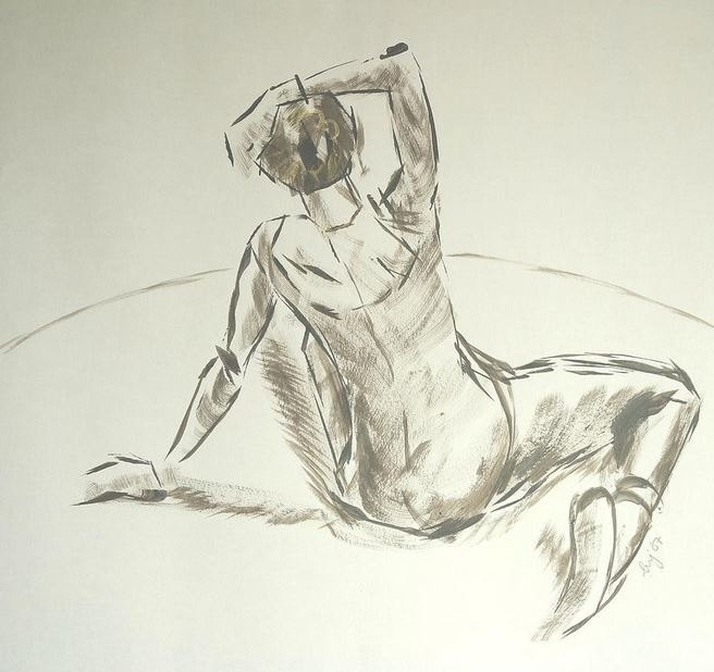 Floor' - dry brush acrylic draw - artbymikejory | ello