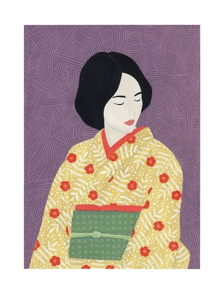 Woman wearing kimono - portrait - sashafishkin | ello