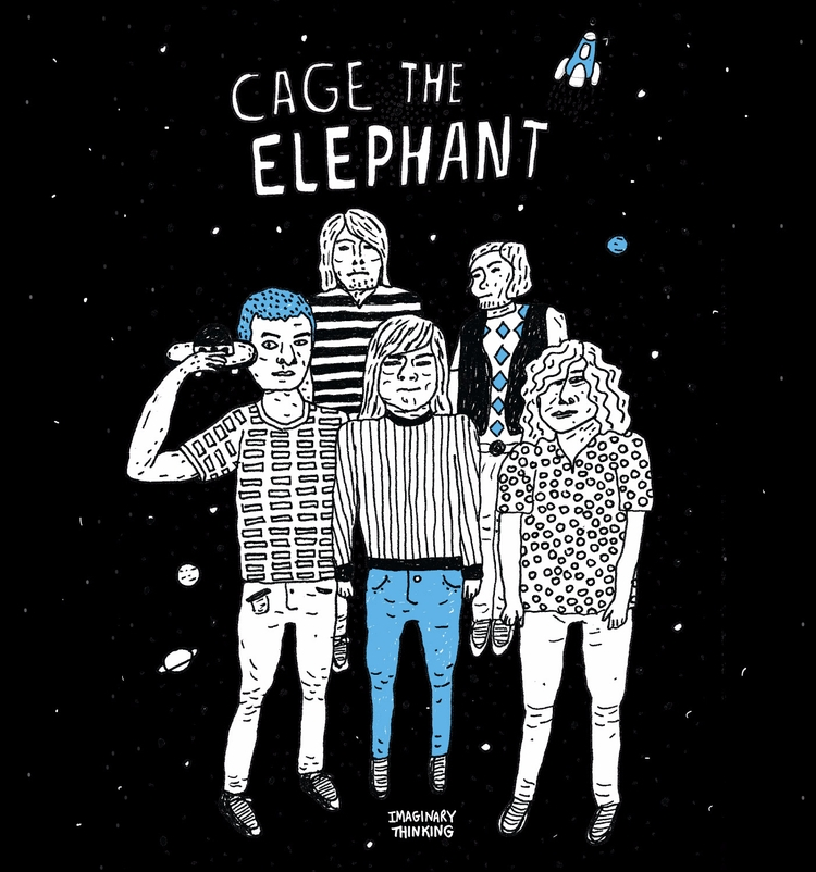 final day, drew Cage Elephant  - imaginarythinking | ello