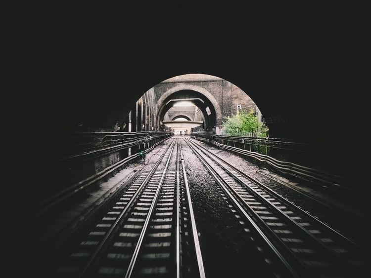 Chasing light west - rails, railway - version3point1 | ello