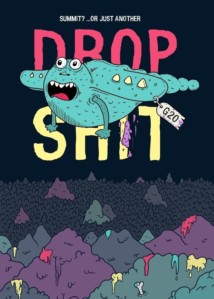 «Summit?! Drop – illustration G - flatdrop   ello
