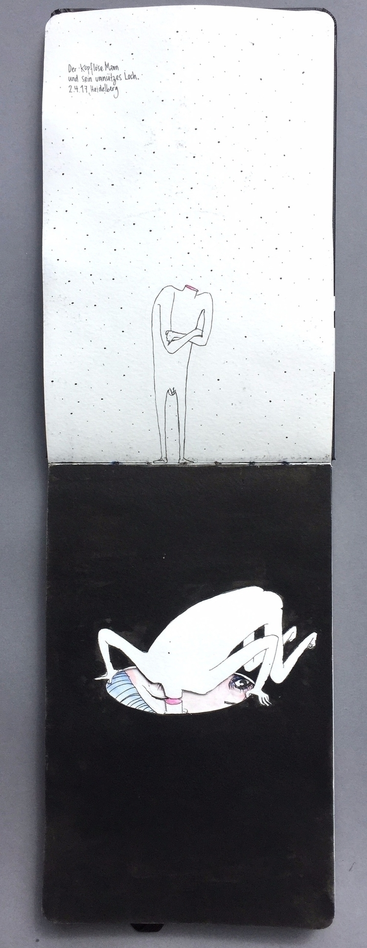 headless men - illustration, drawing - violakonrad | ello