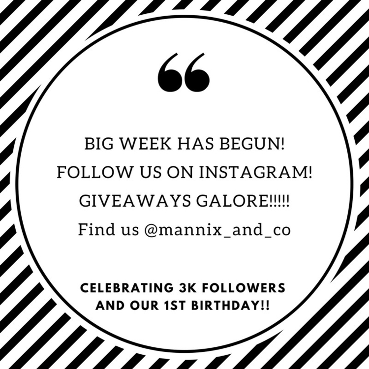 Follow Insta join fun! Giveaway - mannixandco | ello