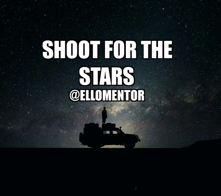sky limit - motivation, night, stars - ellomentor | ello